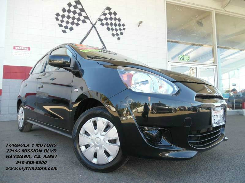 2014 MITSUBISHI MIRAGE DE 4DR HATCHBACK CVT black 2-stage unlocking - remote abs - 4-wheel air
