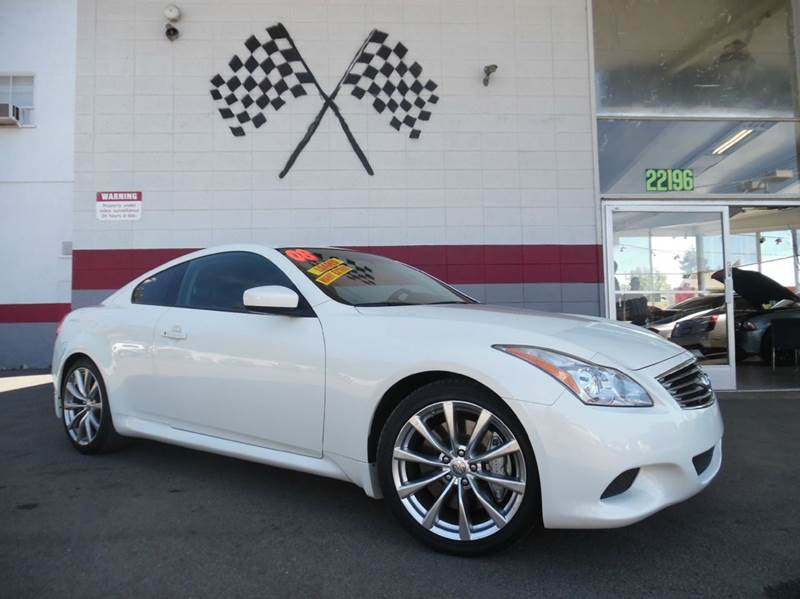 2008 INFINITI G37 SPORT 2DR COUPE white super clean infiniti g37  gorgeous black leather interio