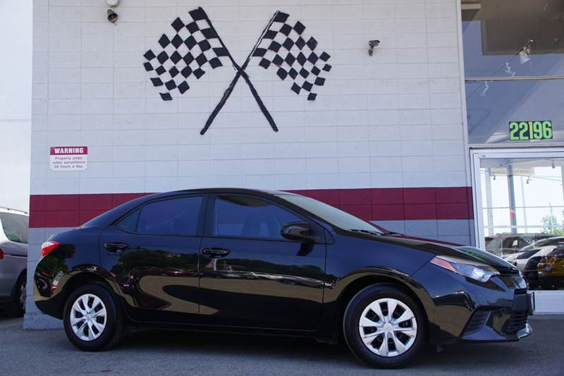 2015 TOYOTA COROLLA L 4DR SEDAN 4A black abs - 4-wheel air filtration airbag deactivation - occ