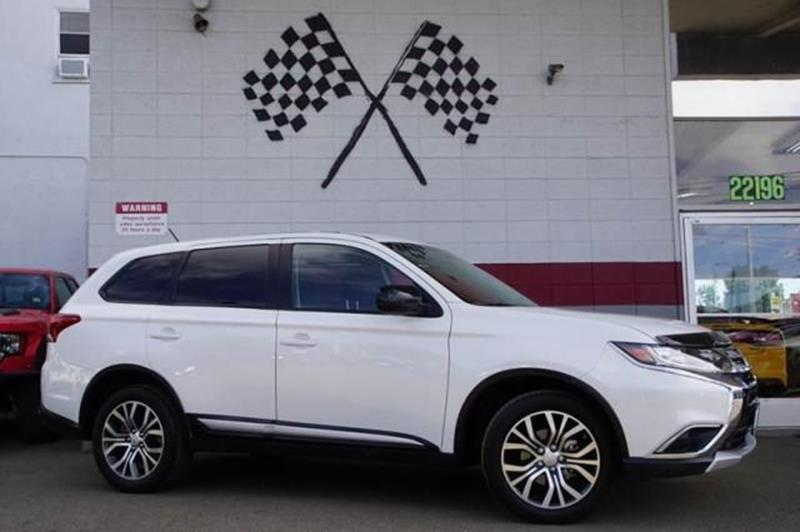 2016 MITSUBISHI OUTLANDER ES AWD 4DR SUV white 2-stage unlocking doors 4wd type - full time abs