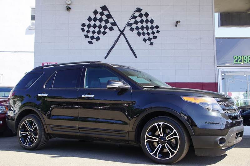 2014 FORD EXPLORER SPORT AWD 4DR SUV tuxedo black metallic 2-stage unlocking doors 4wd type - ful