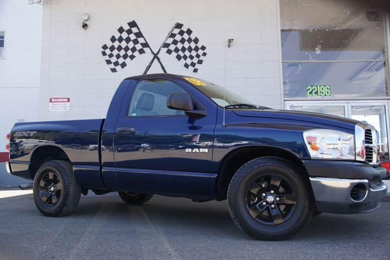 2008 DODGE RAM PICKUP 1500 ST 2DR REGULAR CAB SB electric blue pearlcoat abs - rear airbag deact
