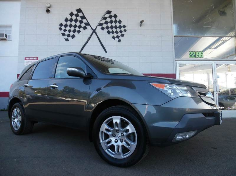 2007 ACURA MDX SH-AWD WSPORT PACKAGE 4DR SUV P grey loaded - leather - moon roof - navigation - r