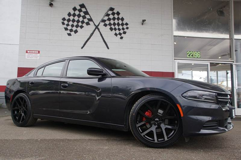2016 DODGE CHARGER SE 4DR SEDAN jazz blue pearlcoat vin 2c3cdxbg5gh103641 great looking 2016 dodg