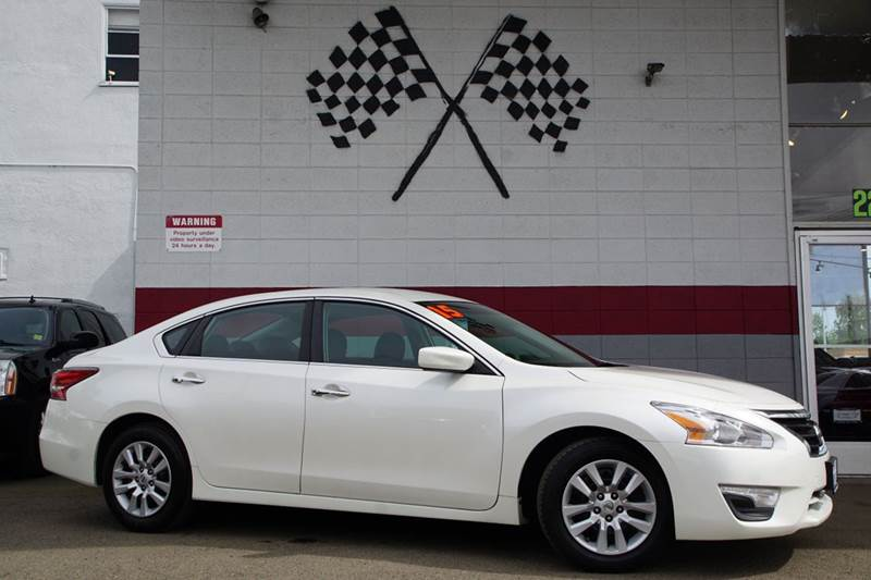 2015 NISSAN ALTIMA 25 S 4DR SEDAN solid white 2-stage unlocking doors abs - 4-wheel air filtra