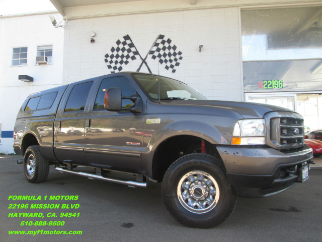 2003 FORD F250 XLT CREW CAB LONG BED 4WD gray 4wdawdabs brakesair conditioningamfm radioan
