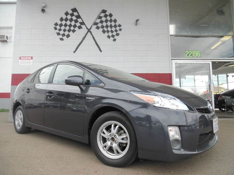 2010 TOYOTA PRIUS I 4DR HATCHBACK grey vinjtdkn3du5a0025471 great gas efficient car with great s