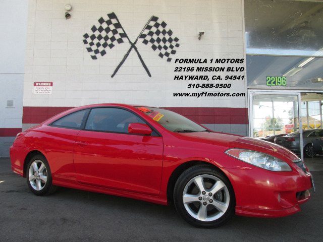2004 TOYOTA CAMRY SOLARA SE SPORT 2DR COUPE red abs - 4-wheel anti-theft system - alarm center c