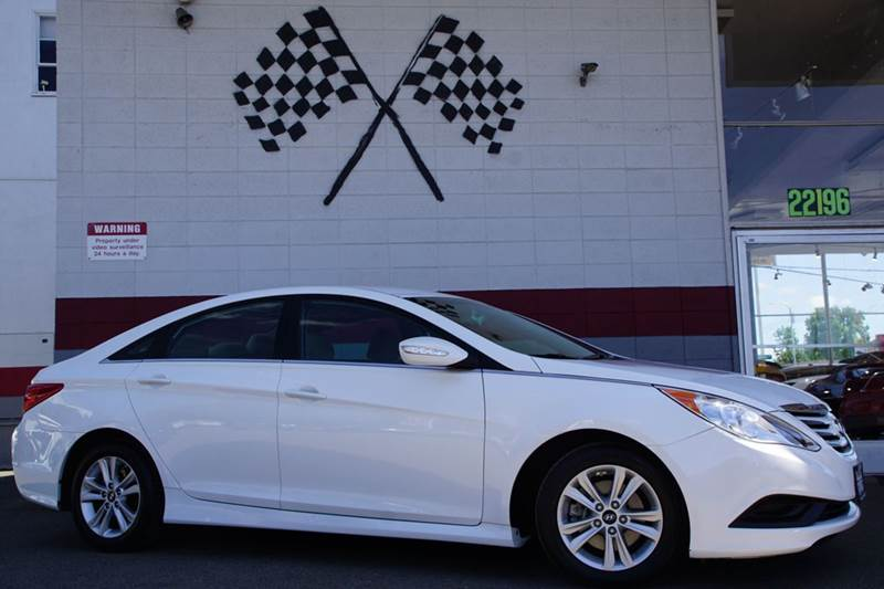 2014 HYUNDAI SONATA GLS 4DR SEDAN pearl white 2-stage unlocking doors abs - 4-wheel active head