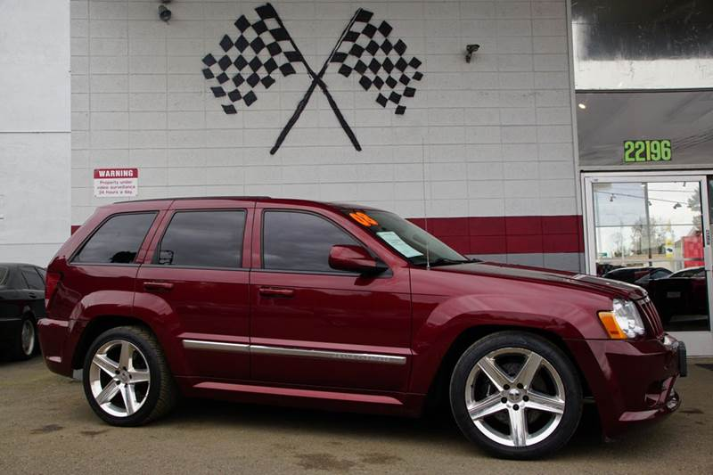 2008 JEEP GRAND CHEROKEE SRT8 4X4 4DR SUV red rock crystal pearlcoat 2-stage unlocking doors 4wd