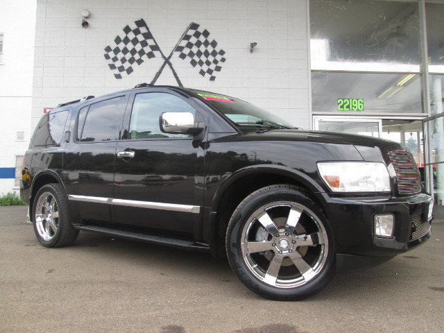 2007 INFINITI QX56 RWD black abs brakesadjustable foot pedalsair conditioningalloy wheelsamfm