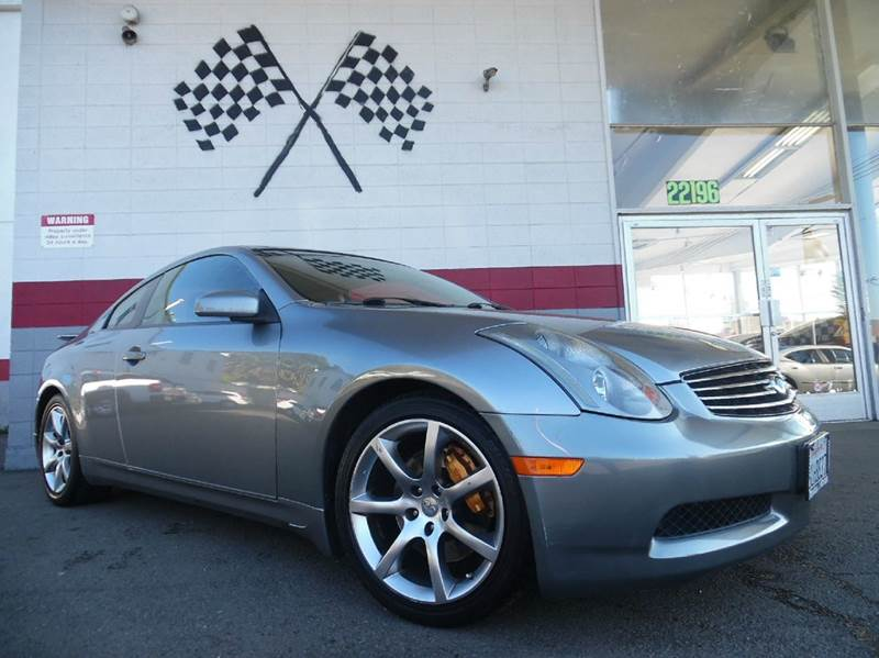 2004 INFINITI G35 RWD 2DR COUPE WLEATHER grey super clean infiniti g35 loaded with leather moo