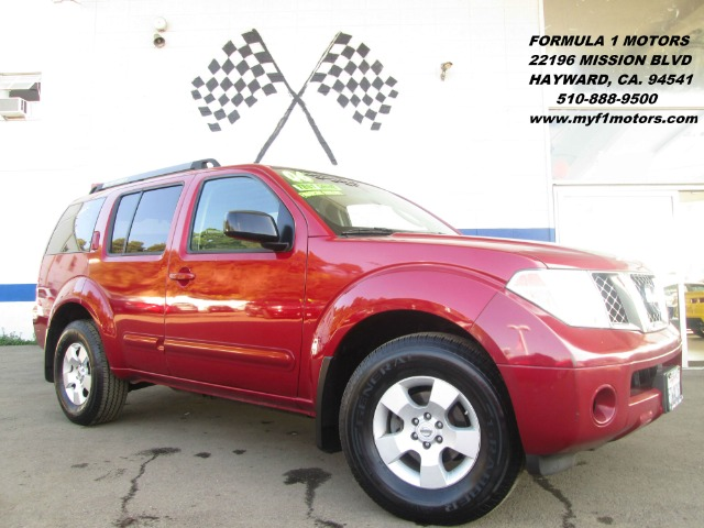 2006 NISSAN PATHFINDER SE 2WD red abs brakesair conditioningalloy wheelsamfm radioanti-brake