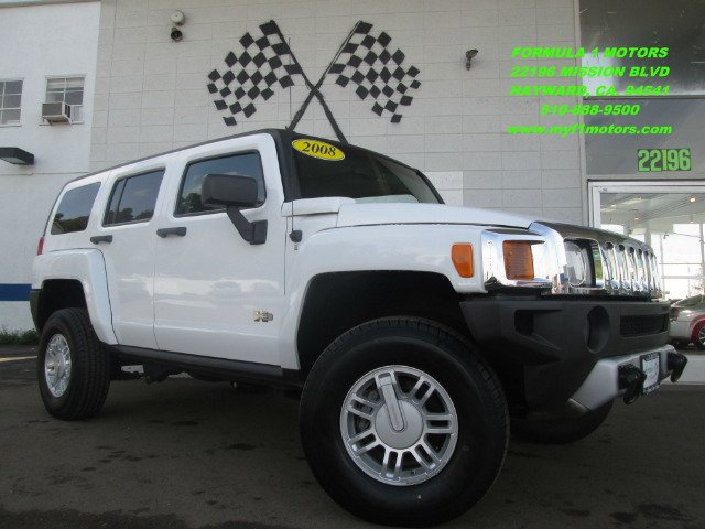 2008 HUMMER H3 BASE white 4wdawdabs brakesair conditioningalloy wheelsamfm radioanti-brake