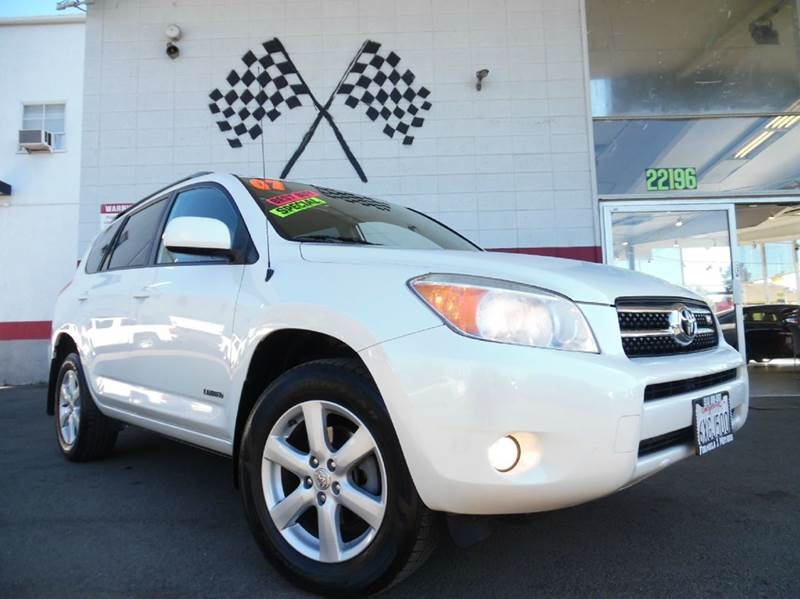 2007 TOYOTA RAV4 LIMITED 4DR SUV 4WD V6 white 2-stage unlocking - remote 4wd type - on demand a