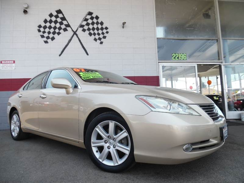 2007 LEXUS ES 350 4DR SEDAN gold vin  jthbj46g272016344  loaded leather - moon roof - rear v