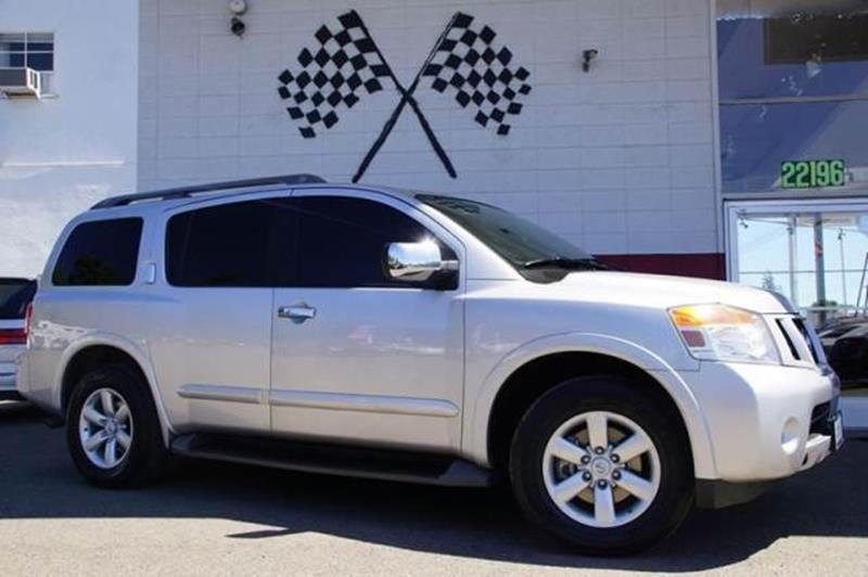 2012 NISSAN ARMADA SV 4X2 4DR SUV brilliant silver metallic stately and strong our 2012 nissan a
