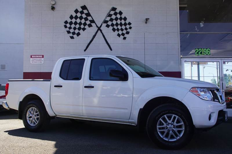 2016 NISSAN FRONTIER SV 4X4 4DR CREW CAB 5 FT SB PIC white 2-stage unlocking doors 4wd selector