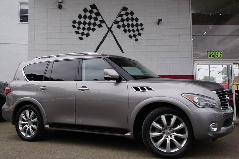 2011 INFINITI QX56 BASE 4X2 4DR SUV W SPLIT BENCH platinum graphite 2-stage unlocking doors abs