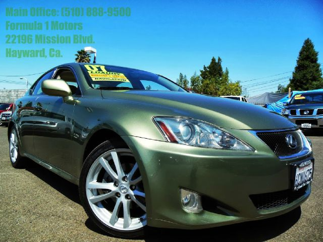 2007 LEXUS IS 250 IS 250 6-SPEED SEQUENTIAL green 25l v6 24v automatic leather moon roof navig
