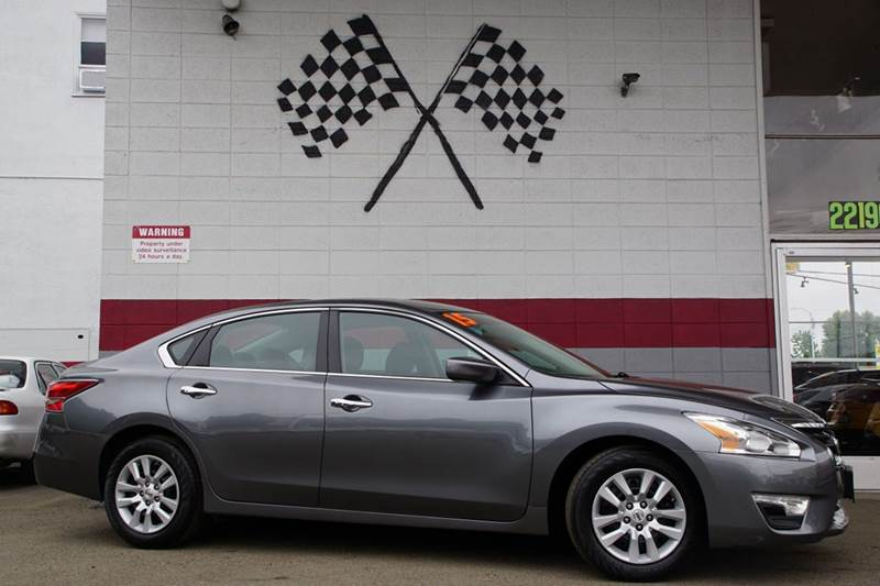 2015 NISSAN ALTIMA 25 S 4DR SEDAN gun metallic 2-stage unlocking doors abs - 4-wheel air filtr