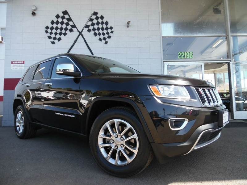 2014 JEEP GRAND CHEROKEE LIMITED 4X2 4DR SUV black vin1c4rjebg0ec134024 limited edition jeep gra