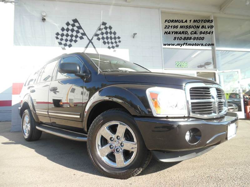 2006 DODGE DURANGO LIMITED 4DR SUV black loaded leather - moon roof - dvd - navigation - thir