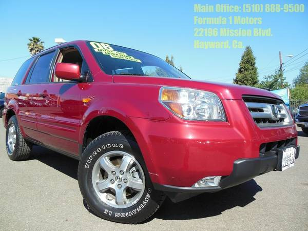 2006 HONDA PILOT EX W LEATHER red abs brakesair conditioningalloy wheelsamfm radioanti-brake