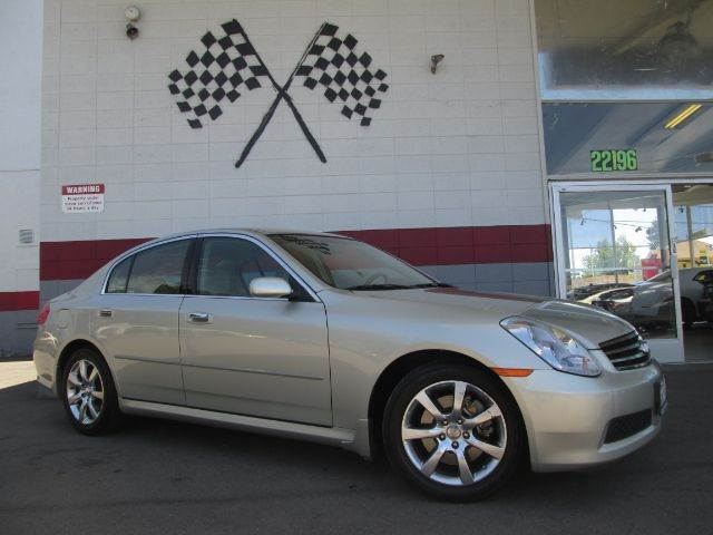 2006 INFINITI G35 BASE 4DR SEDAN 35L V6 5A gold abs - 4-wheel air filtration airbag deactiva