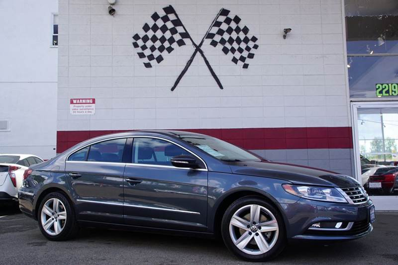 2014 VOLKSWAGEN CC SPORT PZEV 4DR SEDAN 6A island gray metallic 2-stage unlocking doors abs - 4-
