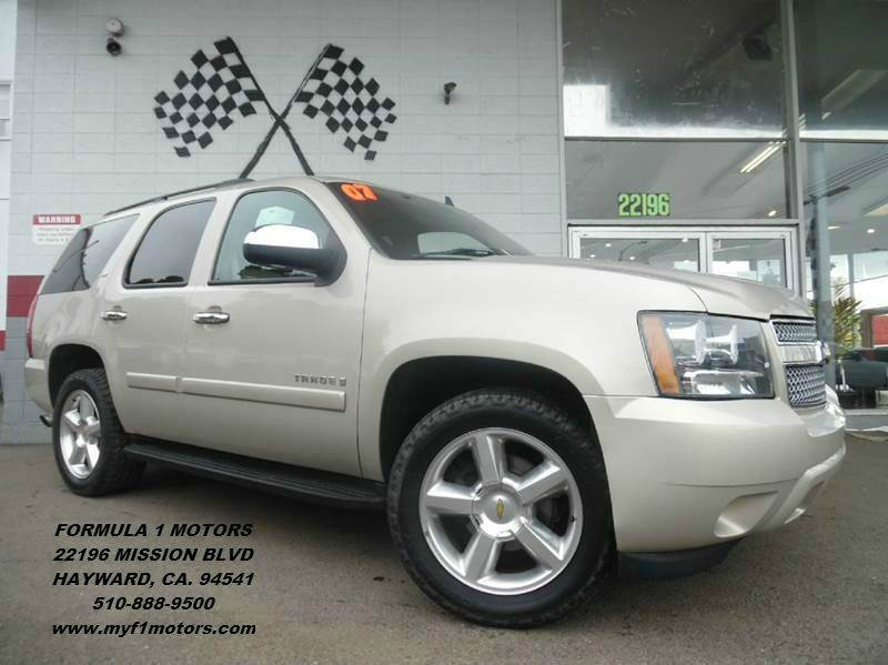 2007 CHEVROLET TAHOE LTZ 4DR SUV gold fully loaded leather moon roof navigation rear view