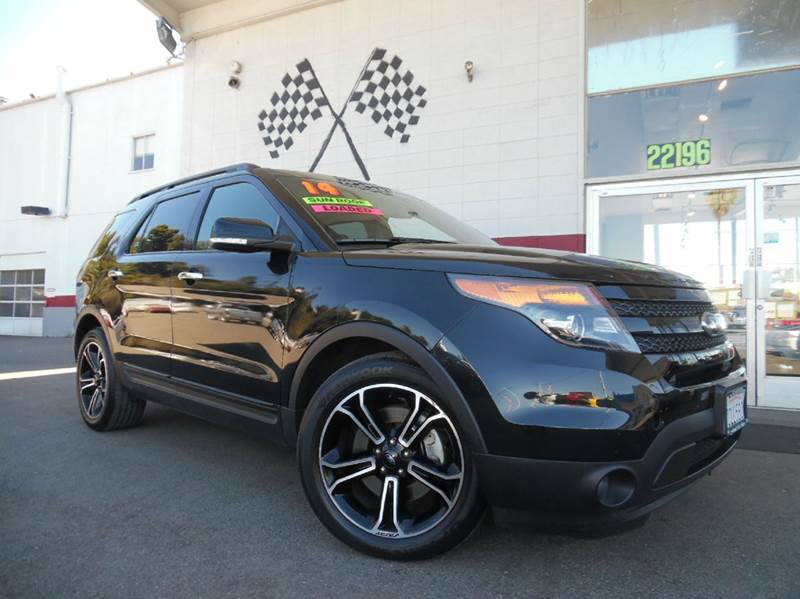 2014 FORD EXPLORER SPORT AWD 4DR SUV black vin 1fm5k8gtxega90525 this ford explorer is in great