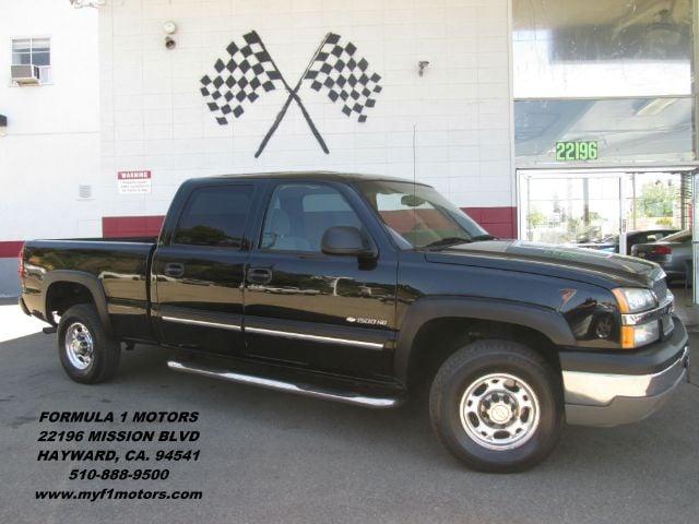 2005 CHEVROLET SILVERADO 1500HD LS 4DR CREW CAB RWD SB black abs - 4-wheel axle ratio - 373 bum