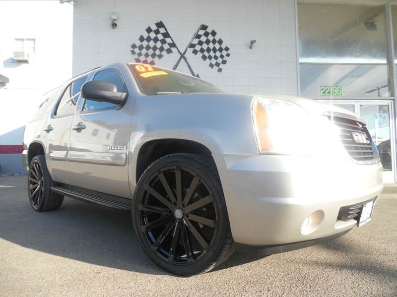 2007 GMC YUKON SLT 4DR SUV brown vin1gkfc130x7r244591 brand new 24 custom wheels and tires  g