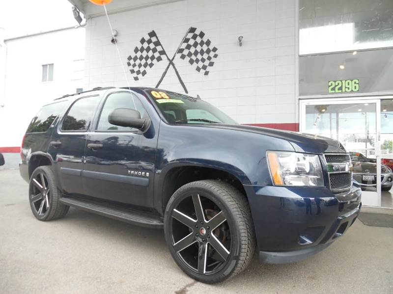 2008 CHEVROLET TAHOE LS 4X2 4DR SUV dark blue vin 1gnfc13058j208780 great dependable vehicle wit