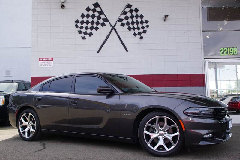 2015 DODGE CHARGER RT ROAD AND TRACK 4DR SEDAN granite crystal metallic clear 2-stage unlocking d