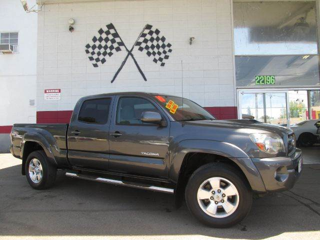 2010 TOYOTA TACOMA PRERUNNER V6 4X2 4DR DOUBLE CAB grey this is a very nice toyota tacoma very s
