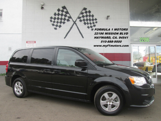 2012 DODGE GRAND CARAVAN SXT 4DR MINI VAN black 2-stage unlocking - remote 50 state emissions ab