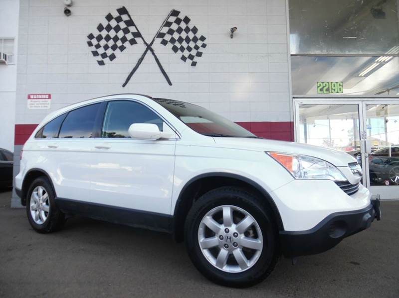 2009 HONDA CR-V EX-L 4DR SUV white moonroof for beautiful days and great design on the dashboard
