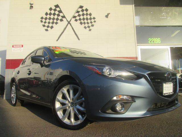 2014 MAZDA MAZDA3 S GRAND TOURING 4DR SEDAN blue 2-stage unlocking - remote abs - 4-wheel air f