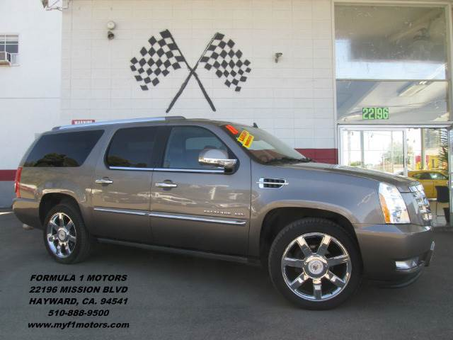 2011 CADILLAC ESCALADE ESV PREMIUM AWD 4DR SUV grey fully loaded cadillac escalade in perfect con