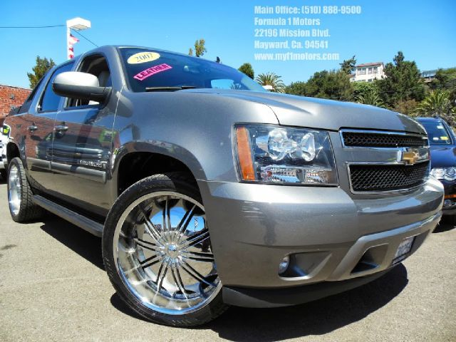 2007 CHEVROLET AVALANCHE LT1 2WD gray 53l v8 automatic lt 24 custom chrome wheels rare leather