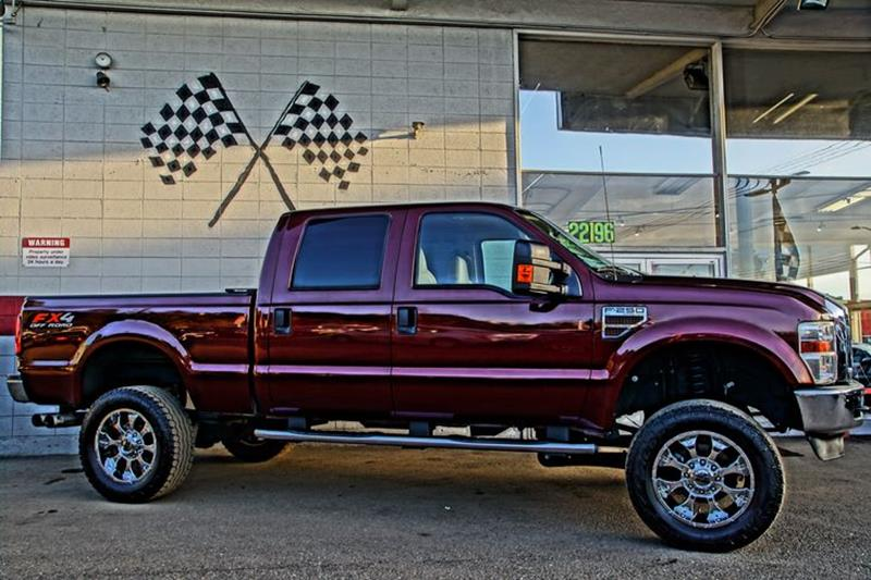 2010 FORD F-250 SUPER DUTY XLT royal red metallic 77725 miles VIN 1FTSW2BR0AEA05699