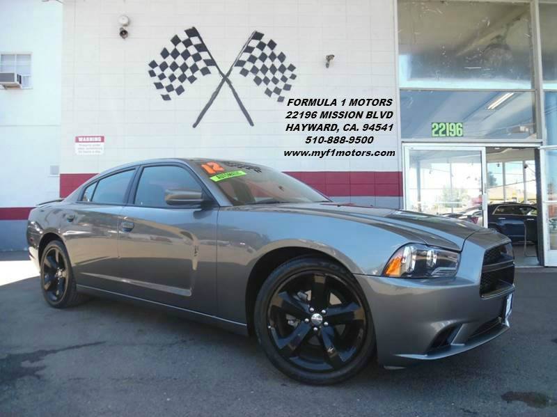 2012 DODGE CHARGER SXT PLUS 4DR SEDAN grey super clean dodge charger gorgeous black leather inte