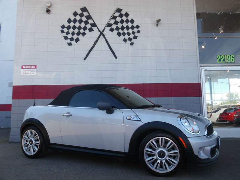 2012 MINI COOPER ROADSTER S 2DR CONVERTIBLE white silver metallic 2-stage unlocking doors abs -