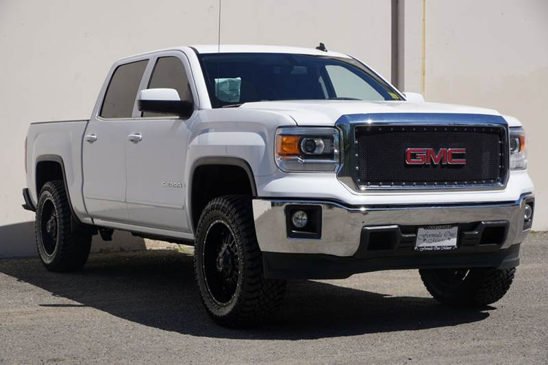 2014 GMC SIERRA 1500 SLE 4X2 4DR CREW CAB 58 FT SB white abs - 4-wheel airbag deactivation - o