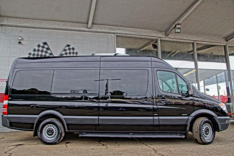2013 MERCEDES-BENZ SPRINTER 2500 170 WB 3DR PASSENGER VAN carbon black metallic mudguards - front