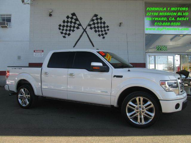 2013 FORD F-150 LIMITED 4X2 4DR SUPERCREW STYLES white limited edition loaded - leather - moo