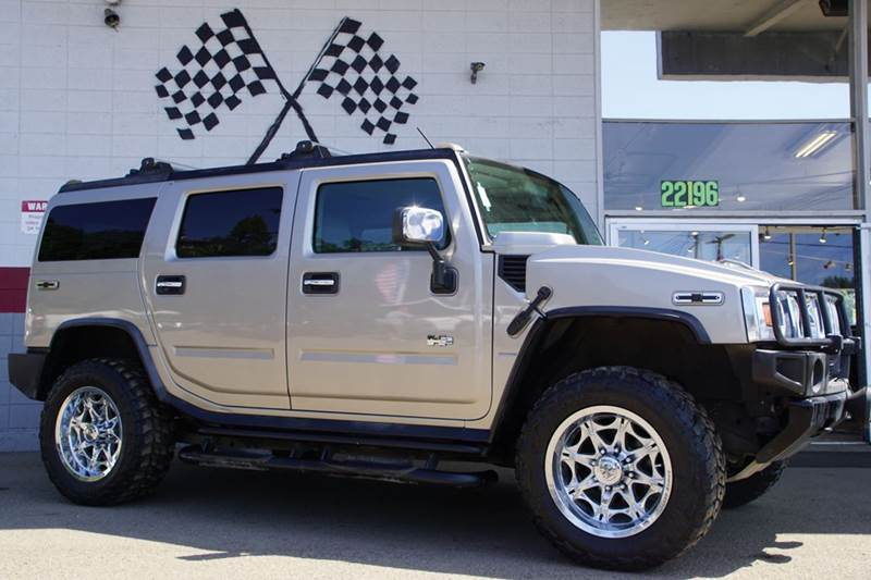 2003 HUMMER H2 LUX SERIES 4DR 4WD SUV pewter metallic 4wd selector - electronic hi-lo abs - 4-wh
