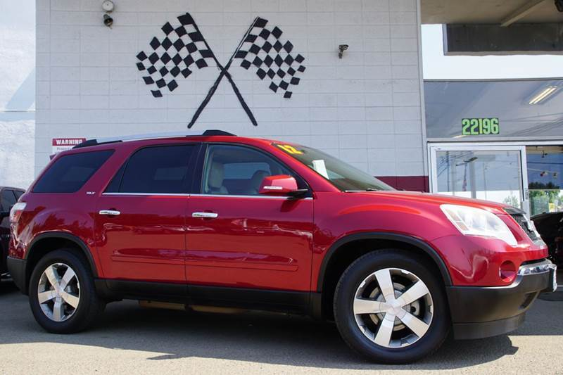 2012 GMC ACADIA SLT 2 4DR SUV crystal red tintcoat abs - 4-wheel airbag deactivation - occupant